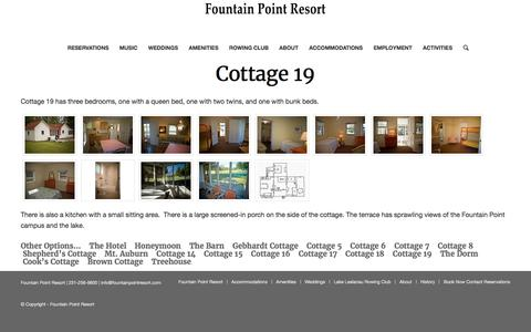 Cottage 19 – Fountain Point Resort