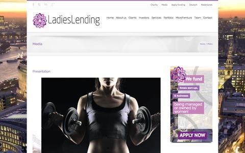 Screenshot of Press Page ladieslending.com - LADIESLENDING | LADIES LENDING | LADIES_LENDING | FEMTURE CAPITAL - captured Oct. 1, 2014