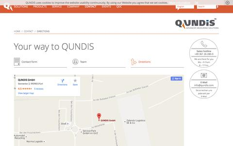 Screenshot of Maps & Directions Page qundis.com - Directions - QUNDIS - captured Oct. 25, 2016