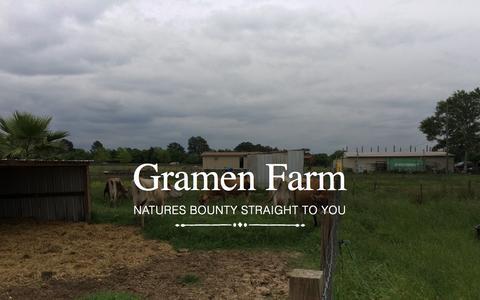 Screenshot of Home Page gramenfarm.com - Gramen Farm - captured Sept. 19, 2015
