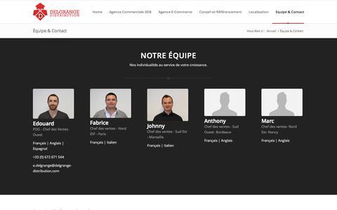 Screenshot of Contact Page delgrange-distribution.com - Delgrange Distribution |   Équipe & Contact - captured Sept. 30, 2014