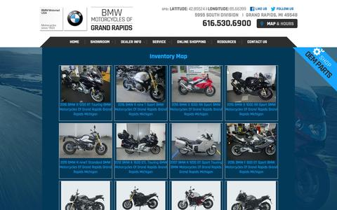 Screenshot of Site Map Page bmwmcgr.com - Inventorymap | BMW Motorcycles Of Grand Rapids Michigan - captured Feb. 7, 2016