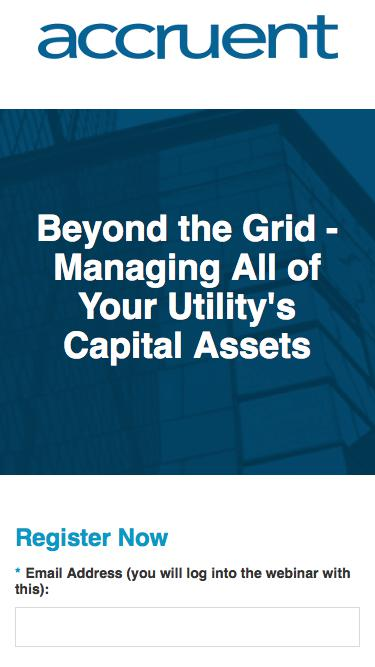 Beyond the Grid - Managing All of Your Utility's Capital Assets - Registration