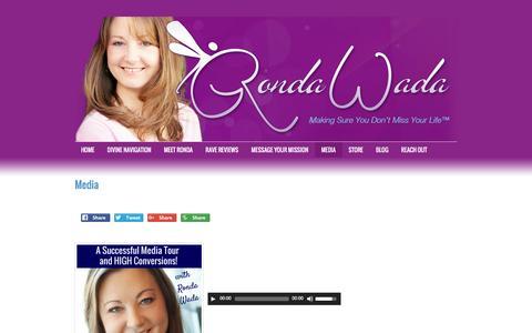 Screenshot of Press Page rondawada.com - Media - captured Aug. 15, 2016