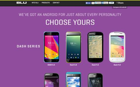 Screenshot of Products Page bluproducts.com - Android Phones - captured Sept. 23, 2014