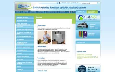 Screenshot of Services Page aratice.fr - Aratice - captured Sept. 26, 2014