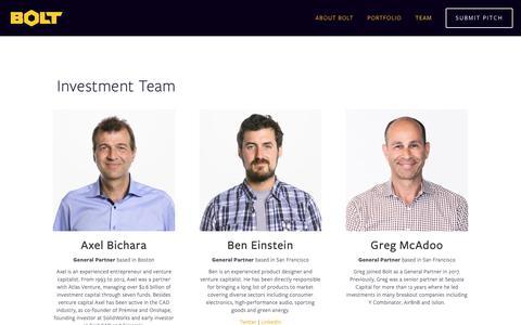 Screenshot of Team Page bolt.io - Team — Bolt - captured Feb. 10, 2019