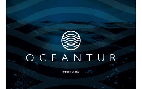 Screenshot of Home Page oceantur.tur.ar - Turismo Internacional. Empresa de Viajes y Turismo. Oceantur SA. - captured June 25, 2016