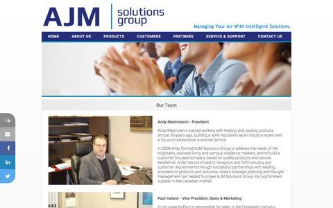 Screenshot of Team Page ajmsolutionsgroup.com - AJM Solutions Group Inc.  - Hospitality Solutions - captured Feb. 4, 2016