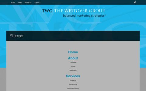 Screenshot of Site Map Page thewestovergroup.com - Sitemap | The Westovergroup - captured Jan. 12, 2016