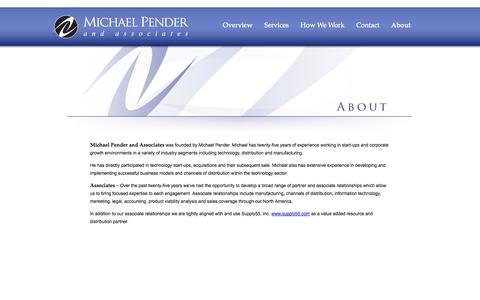 Screenshot of About Page michaelpender.com - Michael Pender and Associates - captured Oct. 27, 2014