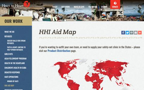 Screenshot of Maps & Directions Page hearttoheart.org - HHI Aid Map | Heart to Heart International - captured Sept. 27, 2018