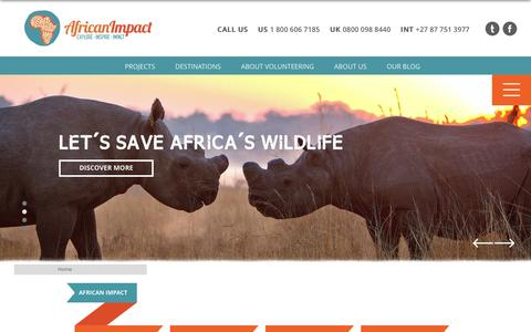 Screenshot of Site Map Page africanimpact.com - Sitemap - captured July 25, 2016