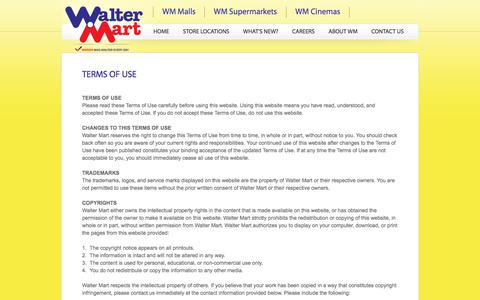 Screenshot of Terms Page waltermart.com.ph - Walter Mart - Terms of Use - captured Oct. 19, 2017
