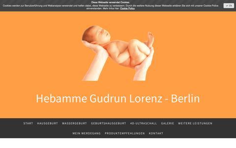 Screenshot of Site Map Page hebammegudrunlorenz.de - Sitemap - Hebamme Gudrun Lorenz - Berlin - captured Oct. 22, 2018