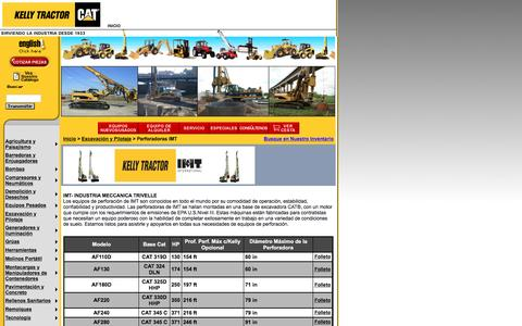 Screenshot of Landing Page kellytractor.com - Kelly Tractor: Perforadoras IMT - captured Aug. 12, 2016