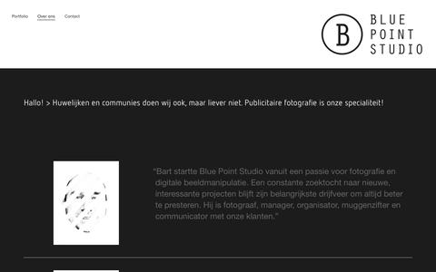Screenshot of About Page bluepointstudio.be - Over ons — Blue Point Studio - captured Sept. 30, 2014