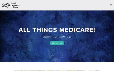 Screenshot of Home Page tweedyinsurancegroup.com - Tweedy Insurance GroupTweedy Insurance Group - captured Dec. 21, 2016