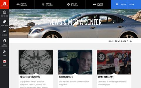 Screenshot of Press Page bridgestonetire.ca - Bridgestone News | Bridgestone Tires - captured Nov. 26, 2018