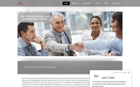 Screenshot of Home Page hubtraining.com - Hub Training - captured May 24, 2017