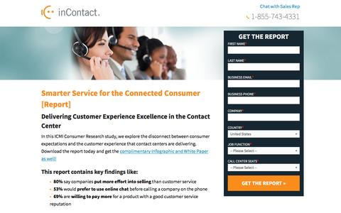 Screenshot of Landing Page incontact.com captured April 19, 2016