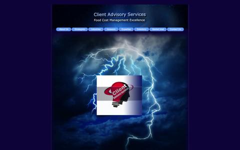 Screenshot of Home Page clientadvisoryservices.com - Client Advisory Services - Welcome - captured Oct. 2, 2014