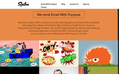 Screenshot of Home Page spikehq.com - Spike | Email With Purpose - captured Jan. 11, 2016