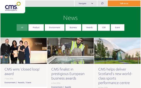 Screenshot of Press Page cmswindows.com - News | CMS Windows - captured Oct. 8, 2016