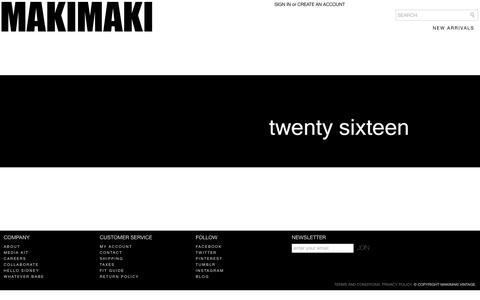Screenshot of Home Page makimakivintage.com - MakiMaki Vintage | - captured Feb. 3, 2016