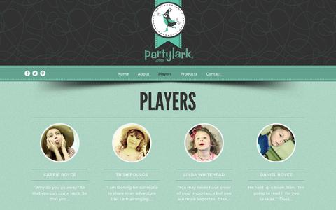 Screenshot of Team Page partylark.com - » Players - captured Dec. 7, 2015