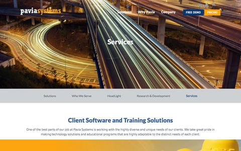 Screenshot of Services Page paviasystems.com - Services | Pavia Systems - captured Jan. 26, 2016