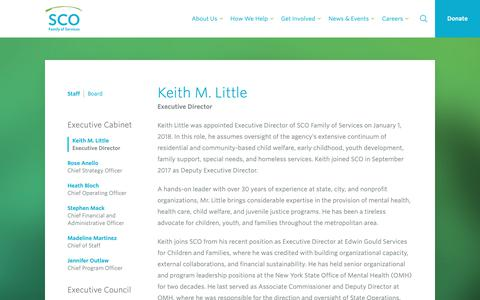 Screenshot of Team Page sco.org - Keith M. Little - SCO Family of Services - captured Nov. 11, 2018