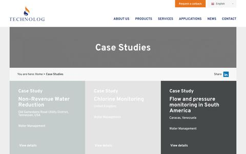 Screenshot of Case Studies Page technolog.com - Case Studies Archive - Technolog - captured Oct. 20, 2018