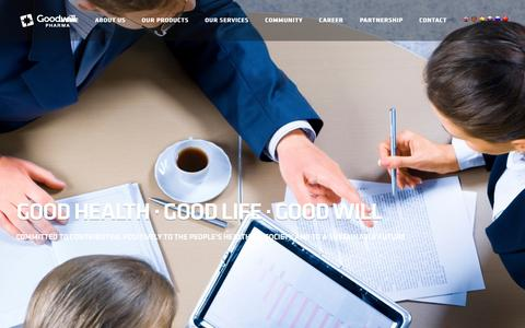 Screenshot of Services Page goodwillpharma.com - Goodwill Pharma - captured Nov. 12, 2016