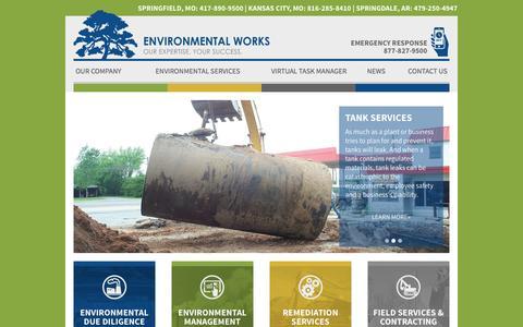 Screenshot of Home Page environmentalworks.com - Environmental Consulting | Environmental Works - captured Nov. 9, 2016