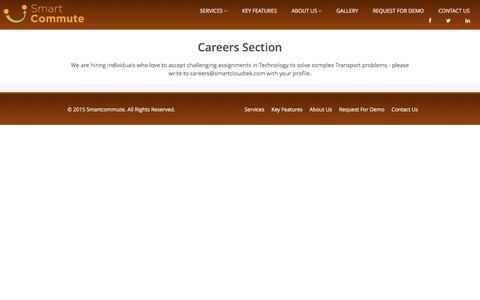 Screenshot of Jobs Page smartcommute.cab - SmartCommute - captured Dec. 20, 2016