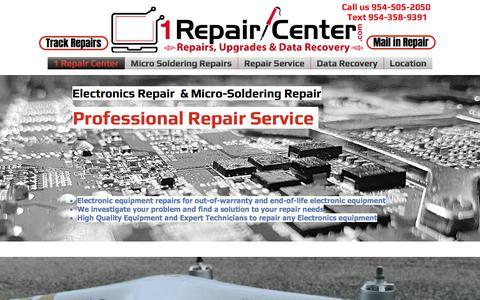 Screenshot of Home Page 1repaircenter.com - 1 Repair Center for SmartPhone, Tablets, Computer & Mac Laptop Repair - captured Oct. 19, 2017