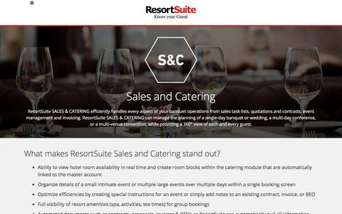 Sales & Catering Software for Hotels and Resorts | ResortSuite