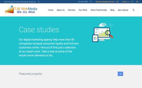 Screenshot of Case Studies Page web-design-hosting-4u.com - Section: Case Studies | NJ Small Business Website Design Company - captured Nov. 4, 2014