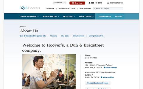 About Us | Hoover's