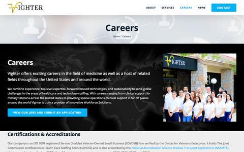 Screenshot of Jobs Page vighter.com - Careers - captured Oct. 15, 2019