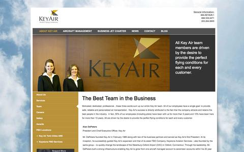 Screenshot of Team Page keyair.com - Team | Key Air - captured Jan. 9, 2016