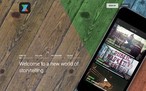 Screenshot of Home Page oz.com - OZ - Creators World - captured Jan. 23, 2015