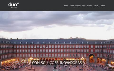 Screenshot of Home Page duoturismo.com.br - Duo Turismo | Agncia de Viagens de incentivo, Turismo, Log'stica de conven‹o , congressos , treinamentos - captured Jan. 14, 2016