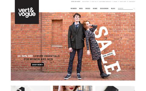 Screenshot of Home Page vertandvogue.com - Vert & Vogue : Boutique - captured Jan. 30, 2015