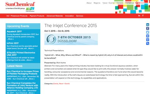The Inkjet Conference 2015 | Sun Chemical