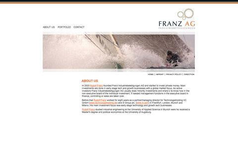 Screenshot of Home Page franzag.de - Franz AG - captured Nov. 25, 2016