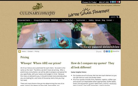 Screenshot of Pricing Page cateringspecialist.com - Culinary Concepts pricing is custom...but how can I compare? Read here - captured Sept. 30, 2018