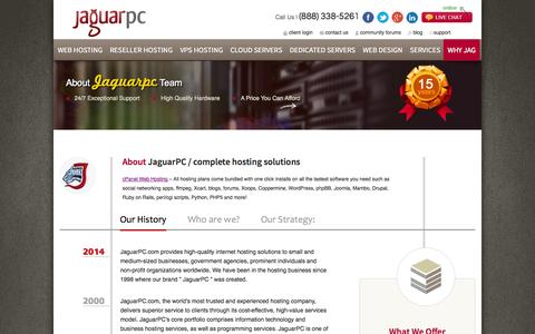 Screenshot of About Page jaguarpc.com - Who Are We? | Professional Web Hosting Services | JaguarPC - captured Sept. 18, 2014