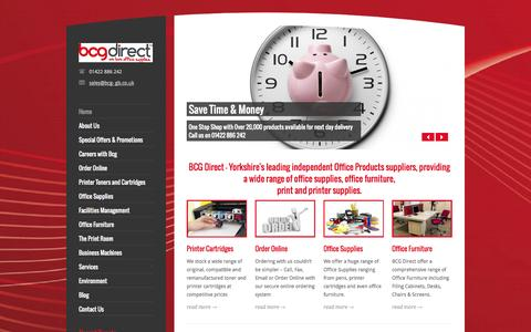 Screenshot of Home Page bcg-gb.co.uk - BCG Office Supplies - captured Oct. 4, 2014